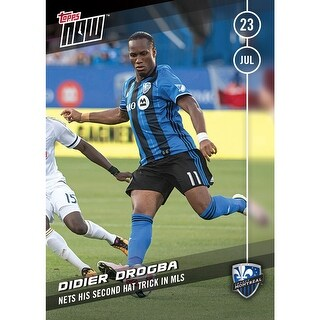 MLS Montreal Impact Didier Drogba #8 Topps NOW Trading Card - multi