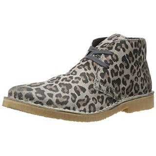 Bronx Womens Just Fine Suede Animal Print Chukka Boots - 41