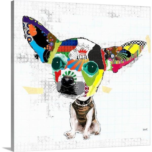 """""""Short Hair Chihuahua"""" Canvas Wall Art"""