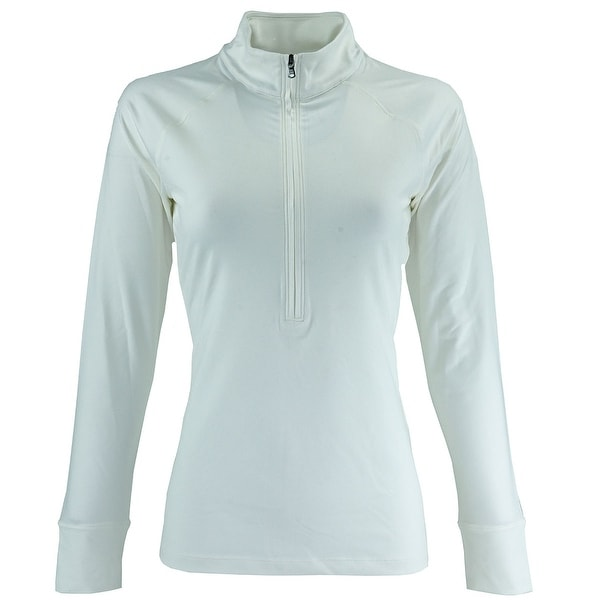 ad60bc5d Shop Under Armour Women's UA Zinger 1/4 Zip Jacket - White - Free Shipping  On Orders Over $45 - Overstock - 23512873