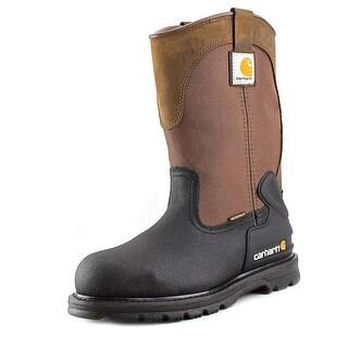 "Carhartt 11"" Mud Wellington Men Round Toe Synthetic Brown Work Boot"