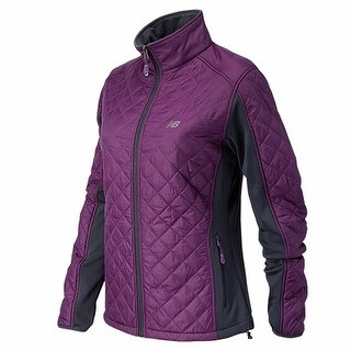 New Balance NEW Purple Gray Womens Size 2XL Quilted Full Zip Jackets