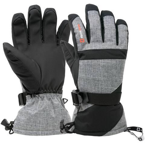 Alpine Swiss Mens Waterproof Gauntlet Ski Gloves Winter Sport Snowboarding Windproof Warm 3M Thinsulate - Small
