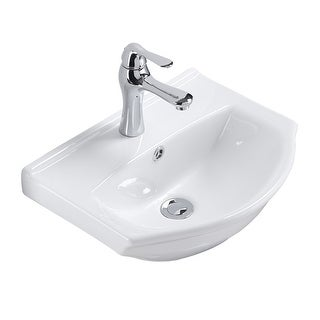 Renovator's Supply Small Space Saving White Wall Mount Bathroom Sink