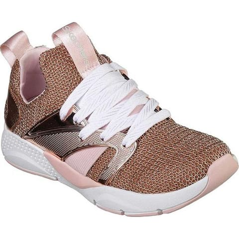 Skechers Girls' Shine Status Off The Chain Sneaker Rose Gold