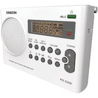 Sangean Portable Am And Fm And Noaa Alert Radio With Rechargeable Battery