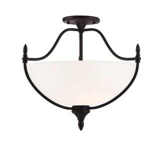 Savoy House 6-1005-3 Herndon 3 Light Semi Flush Mount Ceiling Fixture