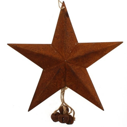 Rust Star with Jingle Bells