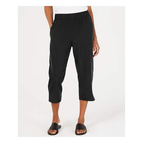 EILEEN FISHER Womens Black Cropped Pants Size PS
