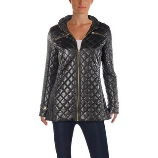 Via Spiga Womens Quilted Coat Fall Jacket