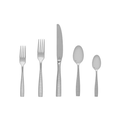 Fortessa 5pps-103-20PC Ringo Flatware 20 Piece Place Setting, Polished Stainless