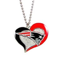 New England Patriots NFL Swirl Heart Necklace