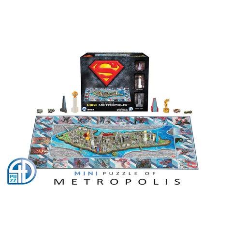 4D Cityscape Puzzle - Metropolis Superman 3D Architectural Puzzle - multi