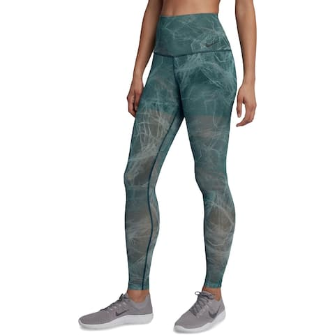 Nike Womens Power printed Athletic Leggings Fitness Workout