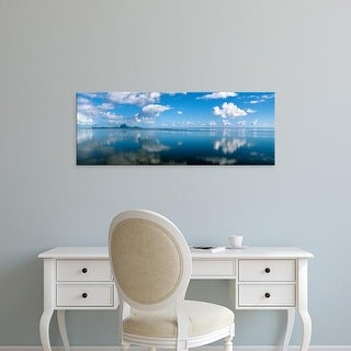 Easy Art Prints Panoramic Images's 'Reflection Of Clouds On Water, Bora Bora, French Polynesia' Premium Canvas Art