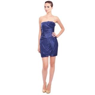 Catherine Malandrino Luxurious Pleated Strapless Cocktail Evening Dress