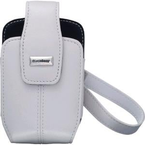 OEM BlackBerry 8700 8703e Leather Tote Holster - White