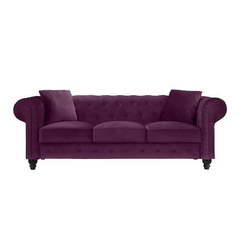Microfiber Small-space Chesterfield Sofa