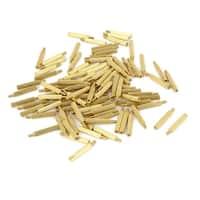 100Pcs Gold Tone Knurled Male Female Thread Column Pillars Standoff M2x16mm