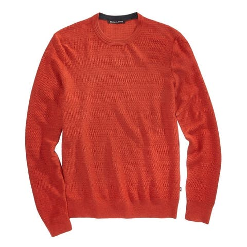 Michael Kors Mens Textued Pullover Sweater