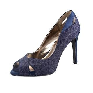 Alfani Lyrra Women Peep-Toe Synthetic Blue Heels