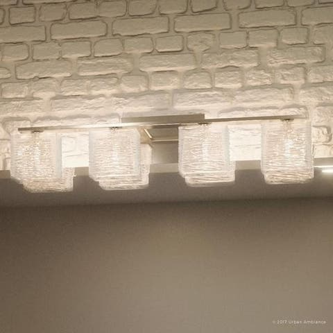 """Luxury Modern Bathroom Light, 6.75""""H x 32""""W, with Transitional Style, Brushed Nickel Finish"""
