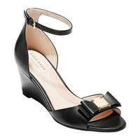 6d29127fa72be Shop Cole Haan Women's Adley Grand Wedge Sandal Black/Black Stack ...