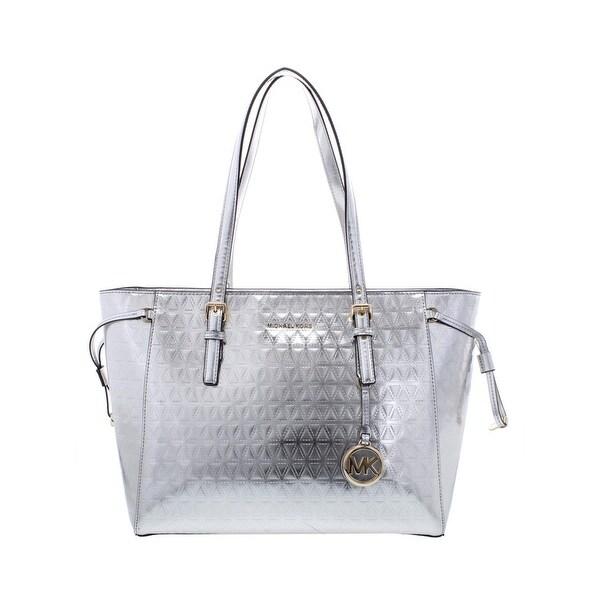527c7e328094 Shop MICHAEL Michael Kors Womens Voyager Tote Handbag Metallic  Organizational - Large - Free Shipping Today - Overstock - 23527844