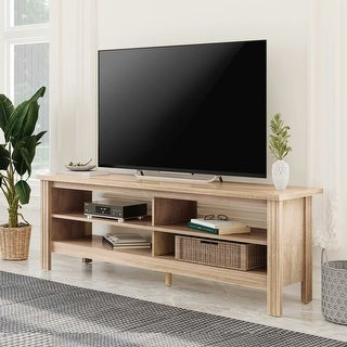 TV Stand for 65 inch TV Entertainment Center,Brown-60 inch - 65 inches (65 inches - Oak) -  WAMPAT