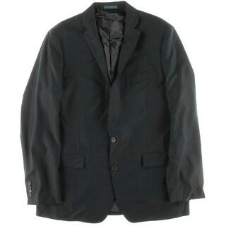 Ryan Seacrest Mens Wool Notch Lapel Two-Button Suit Jacket - 44L