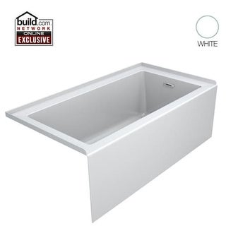 "Jacuzzi LNS6032BRXXXX Linea 60"" Acrylic Soaking Bathtub for Alcove Installation with Right Hand Drain"