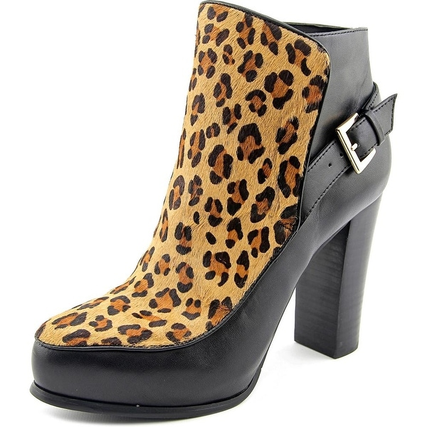 Nicole Miller Flora Women Pointed Toe Leather Multi Color Ankle Boot