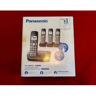 Panasonic KX-TGD224M Cordless Phone with Answering Machine- 4 Handsets (Refurbished)|https://ak1.ostkcdn.com/images/products/is/images/direct/a42ce1e46542be4027a0740c0926ae5ef28ec4b6/Panasonic-KX-TGD224M-Cordless-Phone-with-Answering-Machine--4-Handsets-%28Refurbished%29.jpg?impolicy=medium
