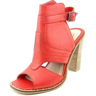 Two Lips Caley Women Open Toe Leather Red Sandals