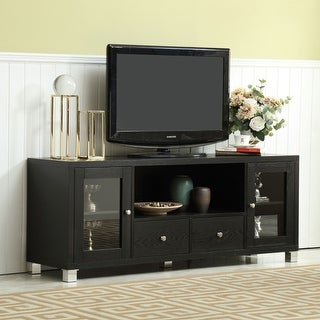 Link to Black 2 Drawers 60-in TV Stand for TVs Similar Items in TV Stands & Entertainment Centers