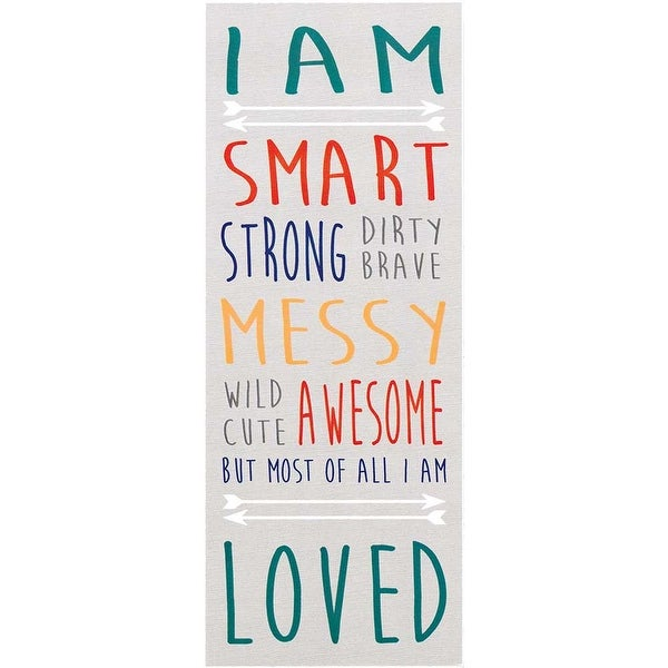 "14"" Gray Boys Motivational ""I Am Smart"" Rectangular Wall Plaque - N/A"