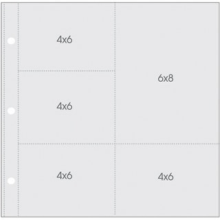"""Sn@P! Pocket Pages For 12""""X12"""" Binders 10/Pkg-(1) 6""""X8"""" & (4) 4""""X6"""" Pockets"""