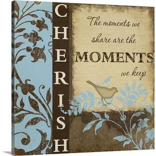 """Cherish"" Canvas Wall Art"