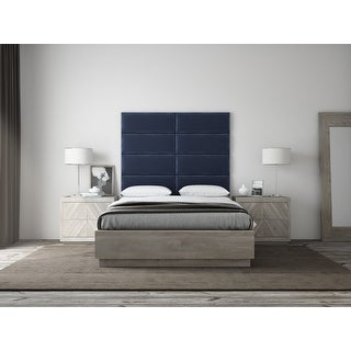 """Link to VANT Upholstered Headboards - Accent Wall Panels - Packs Of 4 - PLUSH VELVET  Navy - 30"""" Wide x 11.5"""" Height Similar Items in Bedroom Furniture"""
