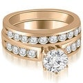 1.95 cttw. 14K Rose Gold Round Cut Diamond Engagement Set - Thumbnail 0