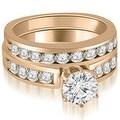 2.45 cttw. 14K Rose Gold Round Cut Diamond Engagement Set - Thumbnail 0