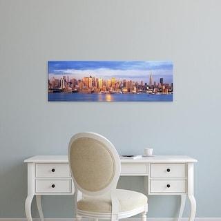 Easy Art Prints Panoramic Images's 'Sunrise New York NY USA' Premium Canvas Art