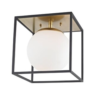 "Mitzi H141501S Aira Single Light 9-1/2"" Wide Semi-Flush Globe Ceiling Fixture wi"