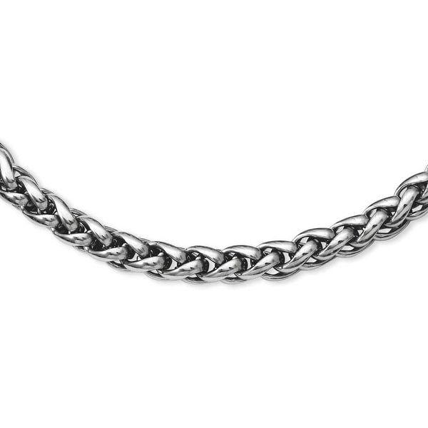 Stainless Steel Polished 24in Necklace (6 mm) - 24 in