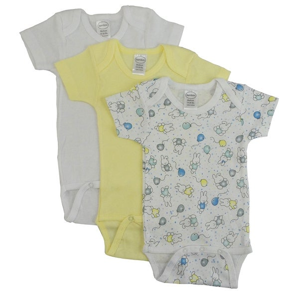 Bambini Girls' Printed Short Sleeve Variety Pack - Size - Newborn - Girl