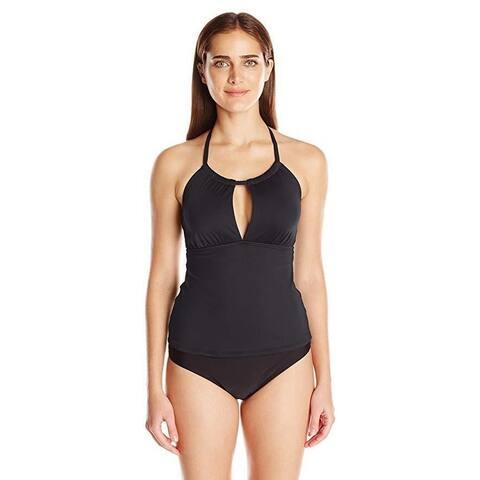 La Blanca Women's Island Goddess High Neck Front Keyhole Tankini Swimsuit Top 8