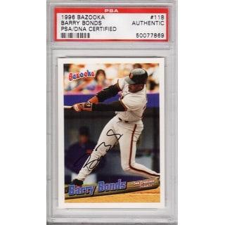 Barry Bonds San Francisco Giants 1996 Bazooka Trading Card 118 Psa Encapsulated Overstockcom Shopping The Best Deals On Baseball