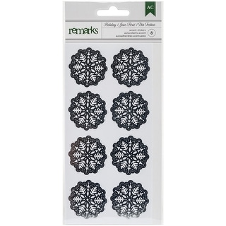 Holiday Remarks Glitter Stickers-Silver Snowflakes