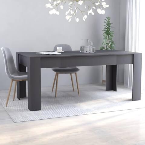 """vidaXL Dining Table Gray 70.9""""x35.4""""x29.9"""" Chipboard - 131.5""""x35.4""""x29.9"""""""