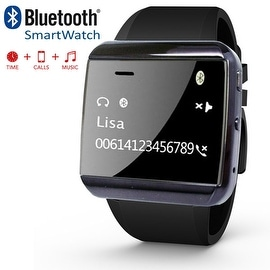Indigi® E3 Bluetooth Sync SmartWatch For iOS and Android - Handsfree w/ Caller ID + SpeakerPhone + Remote Shutter + Music Player